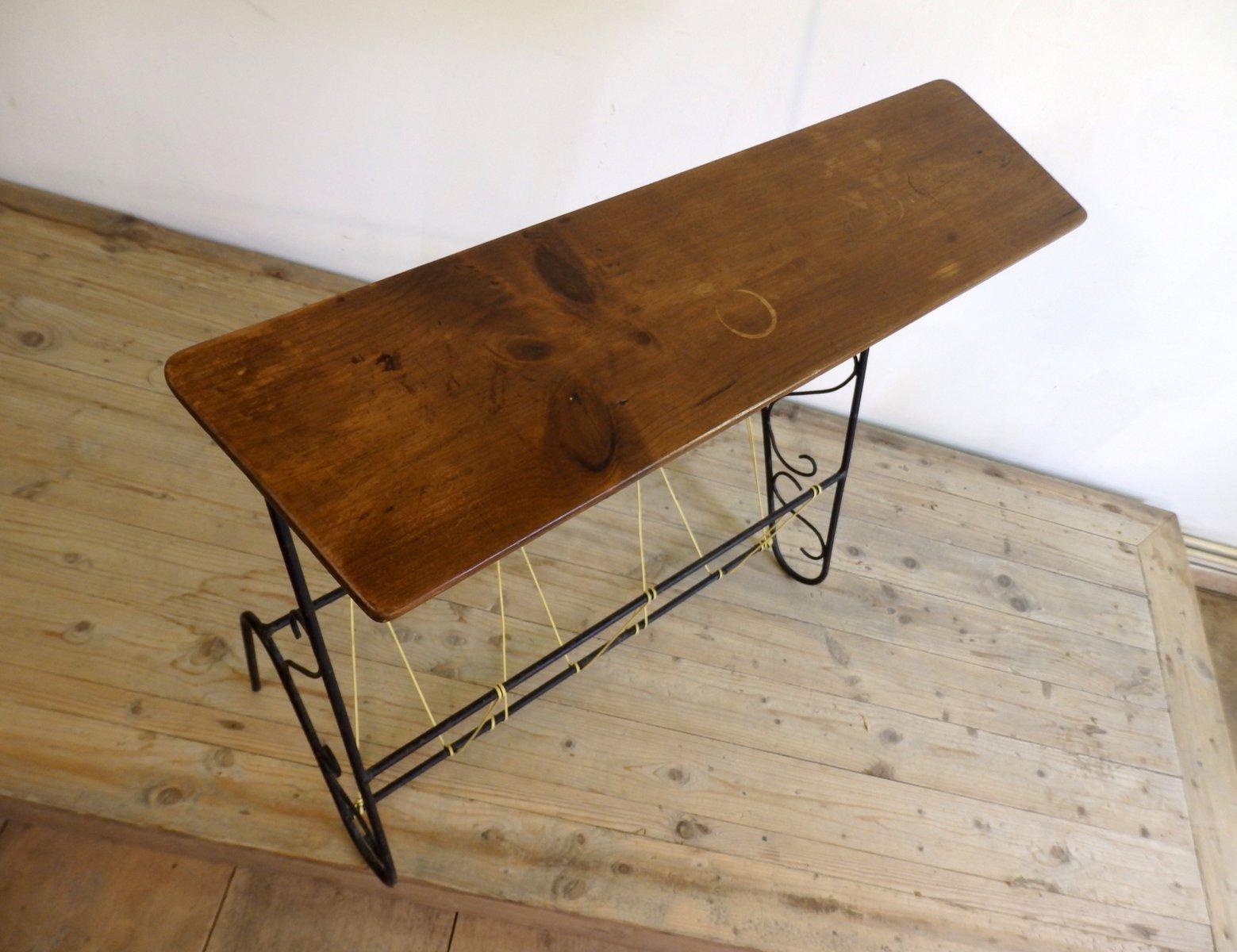 zeitschriftenst nder mit scoubidou knoten 1950er bei. Black Bedroom Furniture Sets. Home Design Ideas