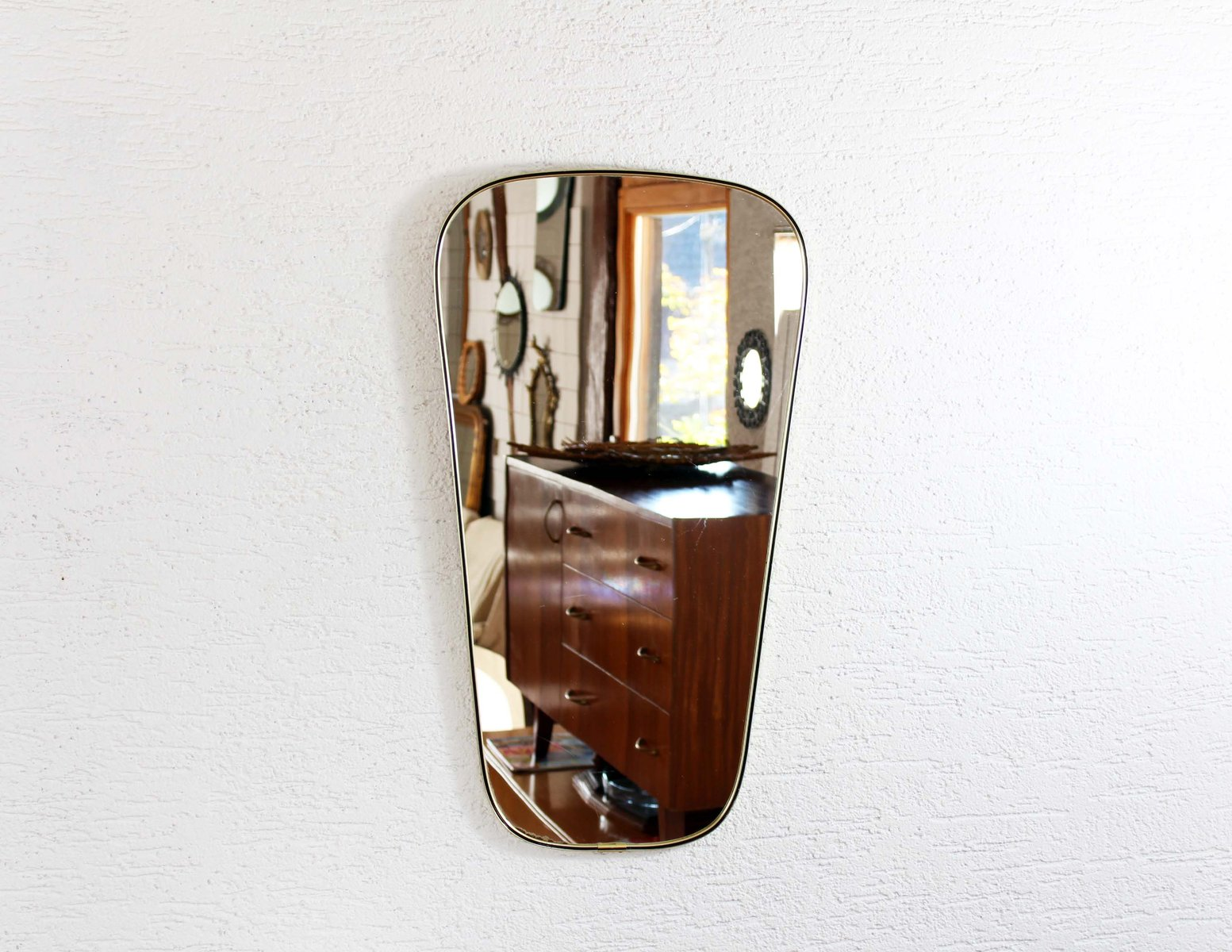 vintage spiegel 1950er bei pamono kaufen. Black Bedroom Furniture Sets. Home Design Ideas