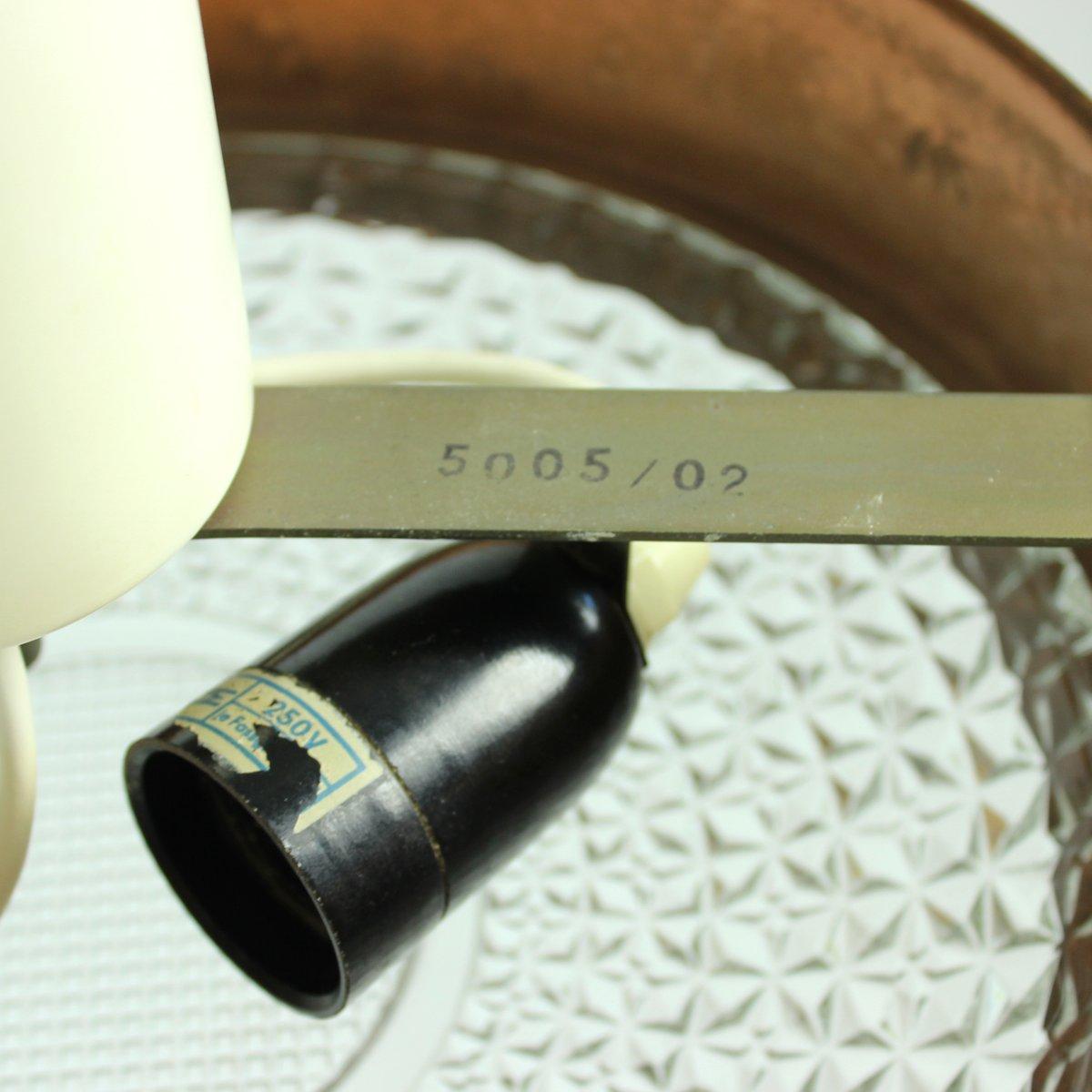 deckenlampe aus kupfer glas 1970er bei pamono kaufen. Black Bedroom Furniture Sets. Home Design Ideas
