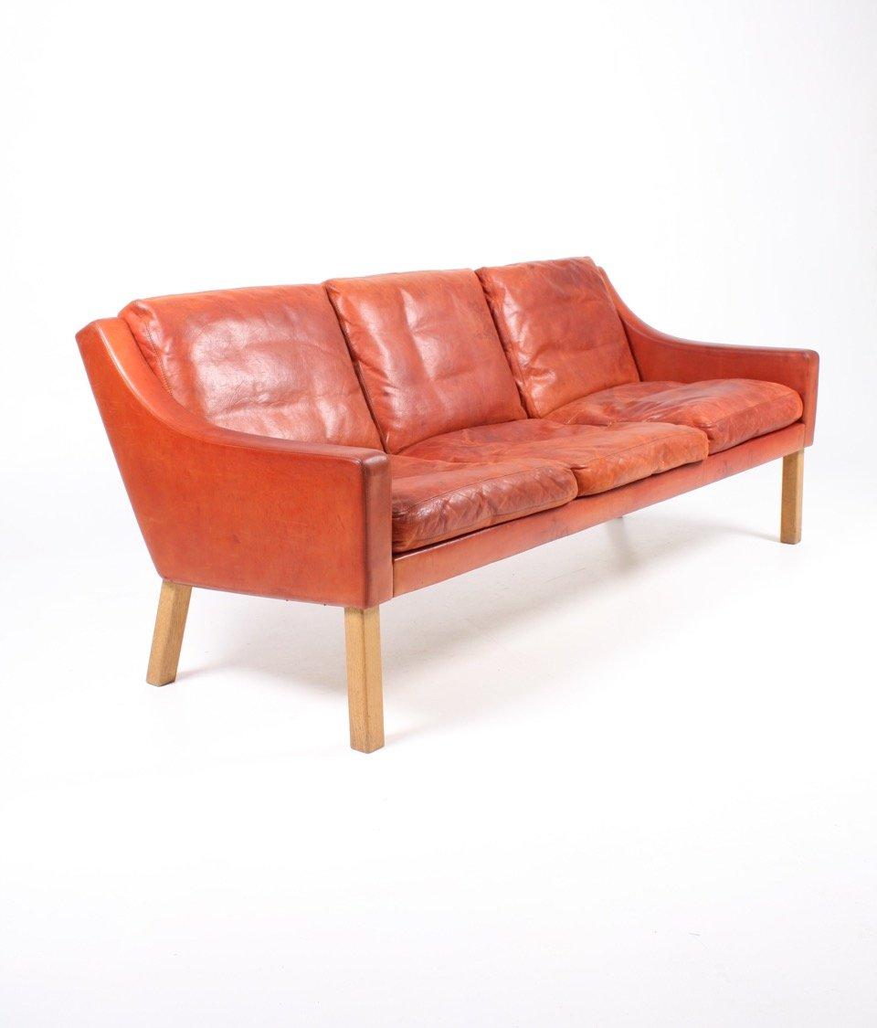 ledersofa von poul m volther f r erik j rgensen 1960er bei pamono kaufen. Black Bedroom Furniture Sets. Home Design Ideas