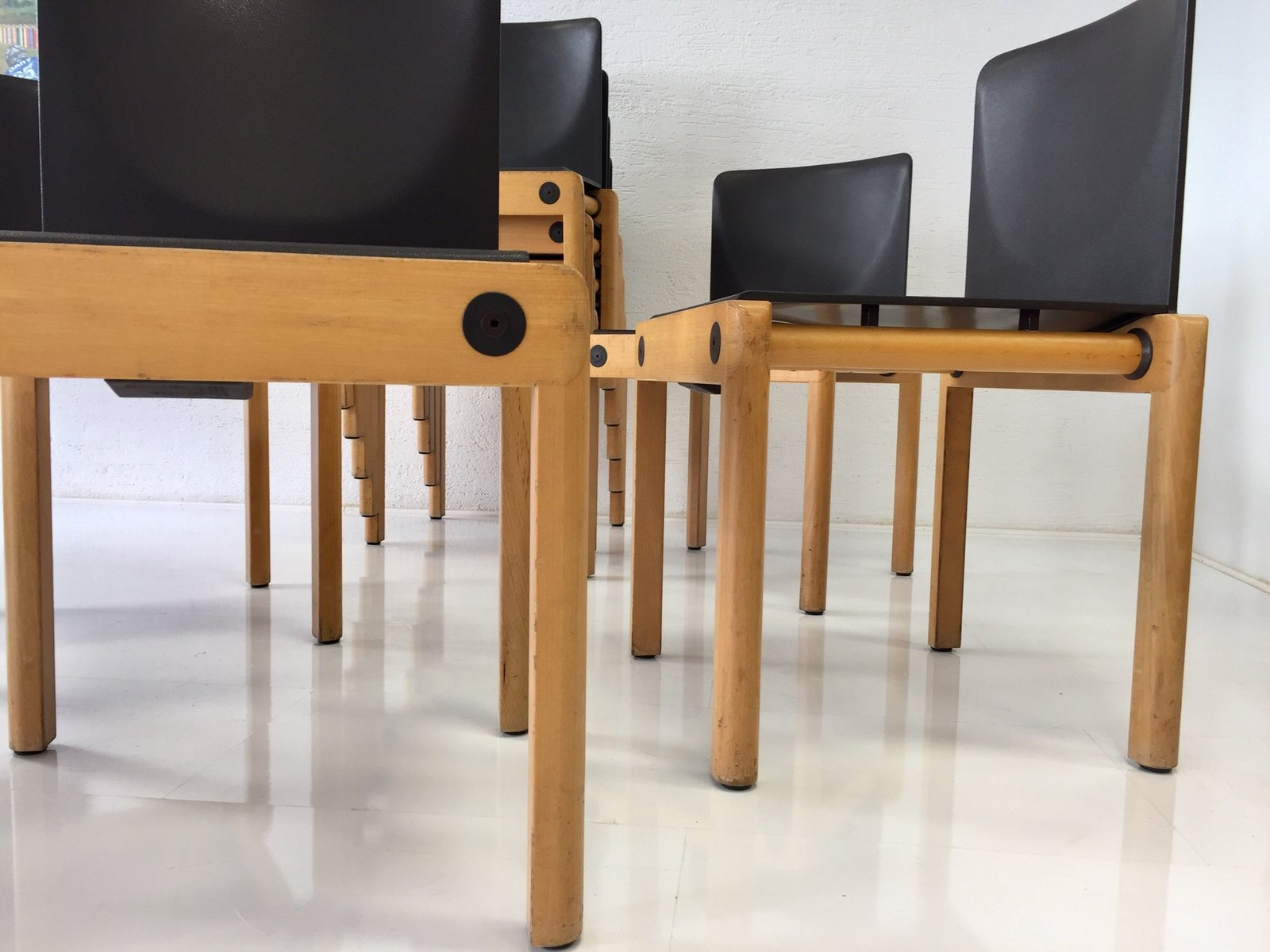 Model 77 Stacking Chairs by Gerd Lange for Schlapp Möbel 1970s