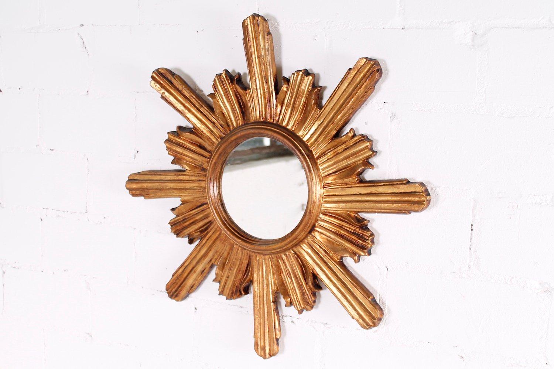 Specchio piccolo a forma di sole anni 39 50 in vendita su pamono - Specchio a forma di sole ...