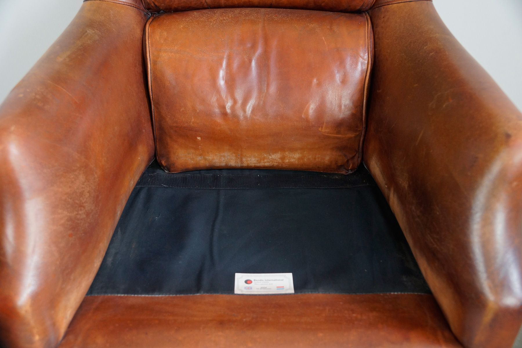 Dutch Leather Chair from Bendic 1980s for sale at Pamono