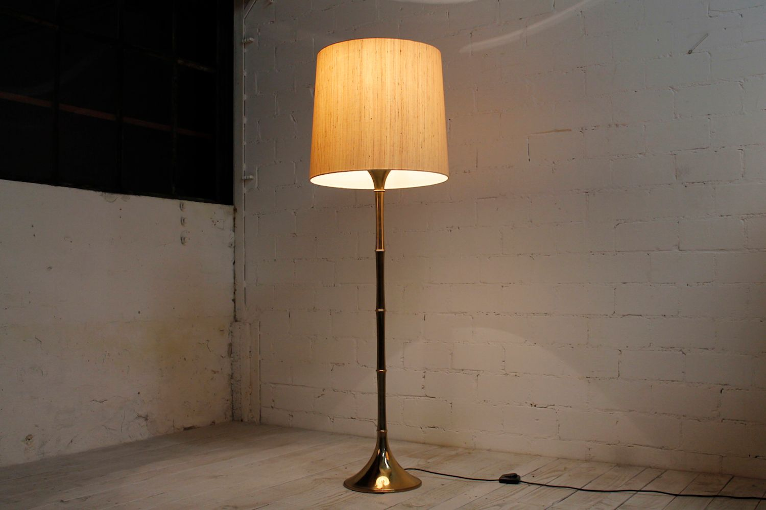 Vintage Bamboo Floor Lamp by Ingo Maurer for sale at Pamono