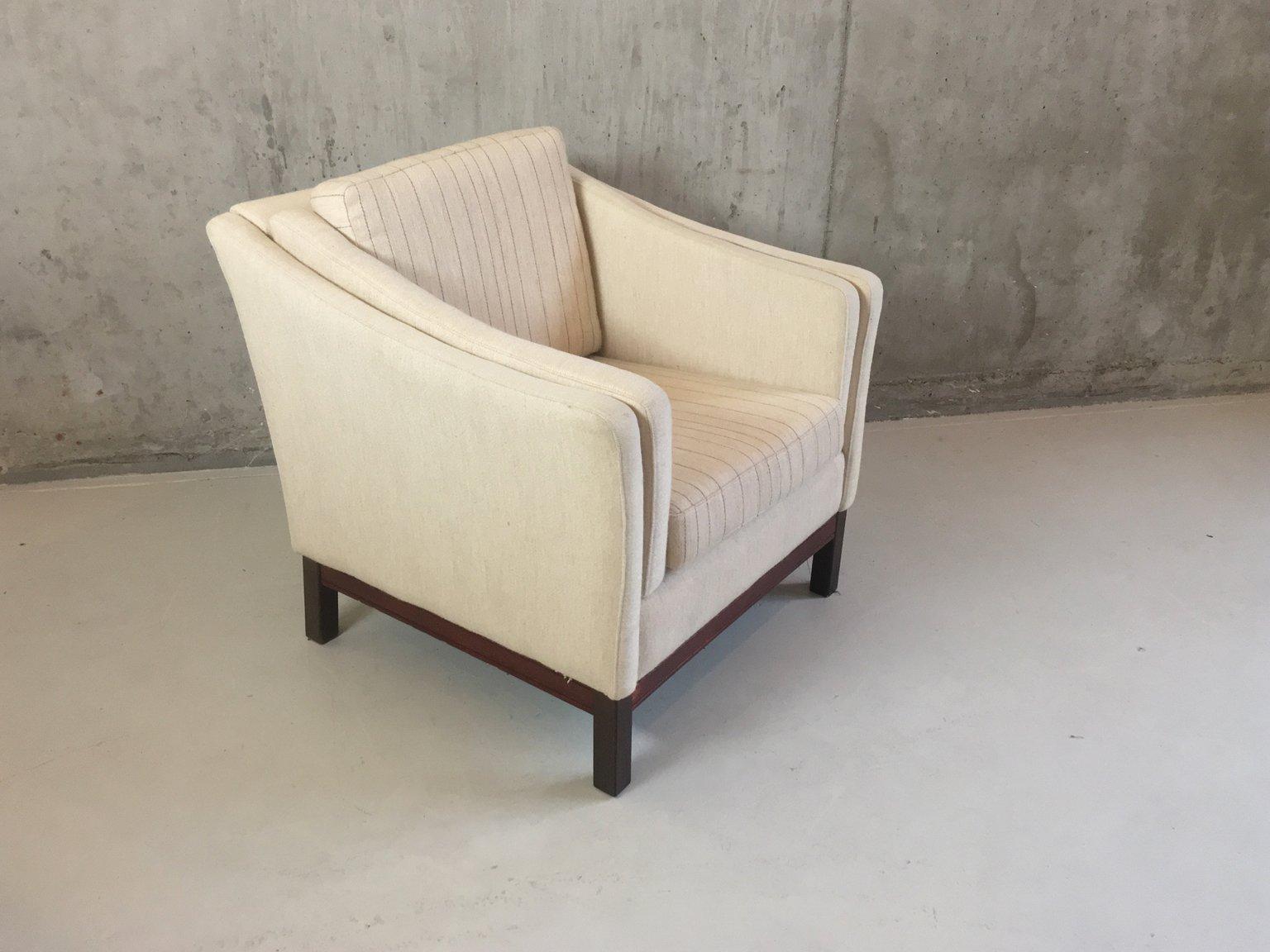 moderner mid century sessel mit hohen armlehnen 1970er. Black Bedroom Furniture Sets. Home Design Ideas