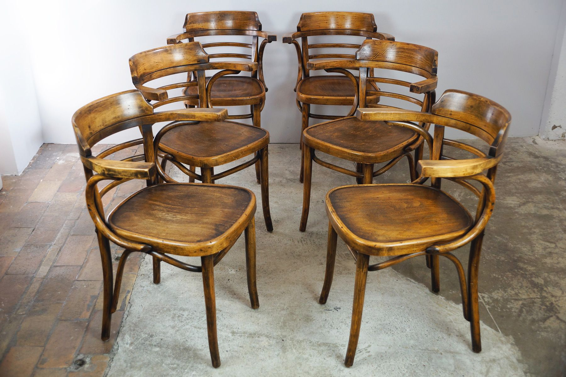 Belgian Bentwood Chairs 1980s Set of 6 for sale at Pamono