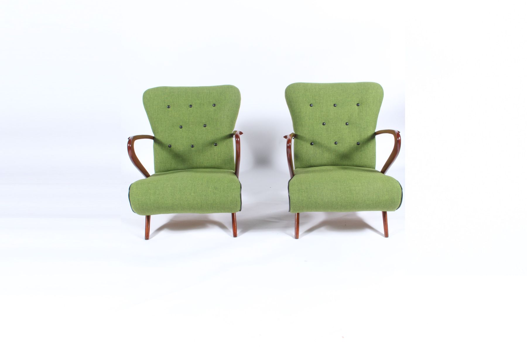 Mid Century Armchairs Set of 2 for sale at Pamono