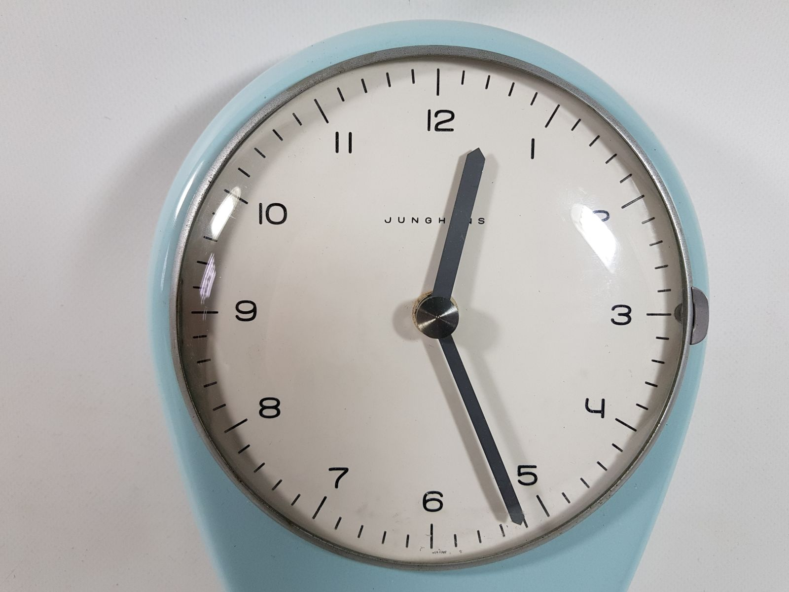 Vintage kitchen clock by max bill for junghans meister for sale at 59400 amipublicfo Images