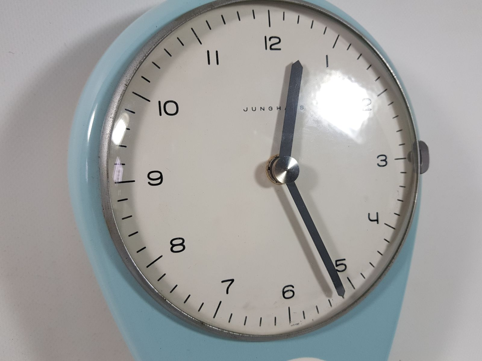 Vintage Kitchen Clock by Max Bill for Junghans Meister for sale at