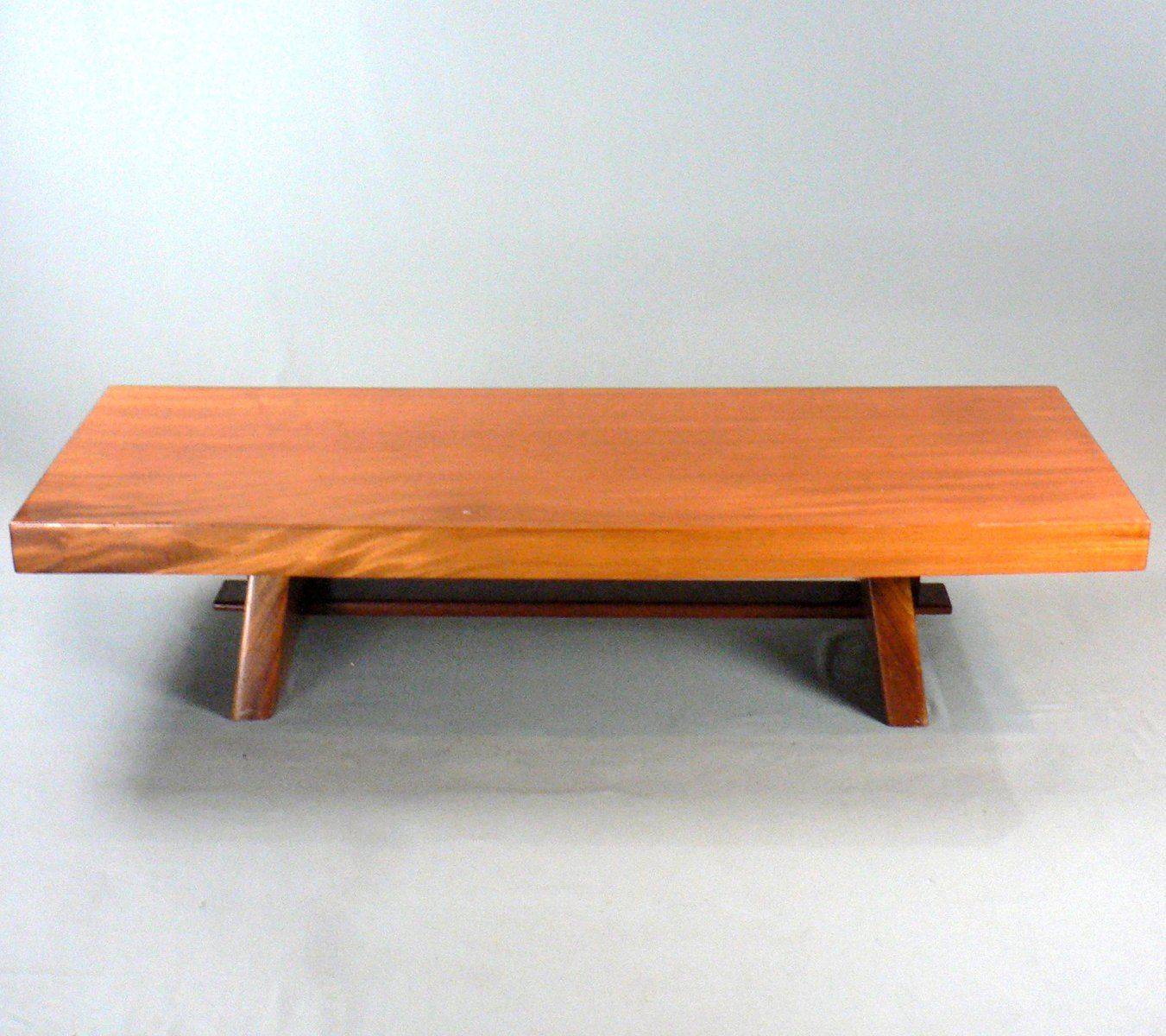Vintage solid wood coffee table for sale at pamono for Solid wood coffee table