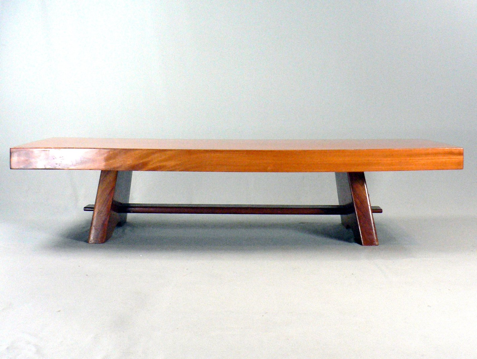 Vintage Solid Wood Coffee Table For Sale At Pamono