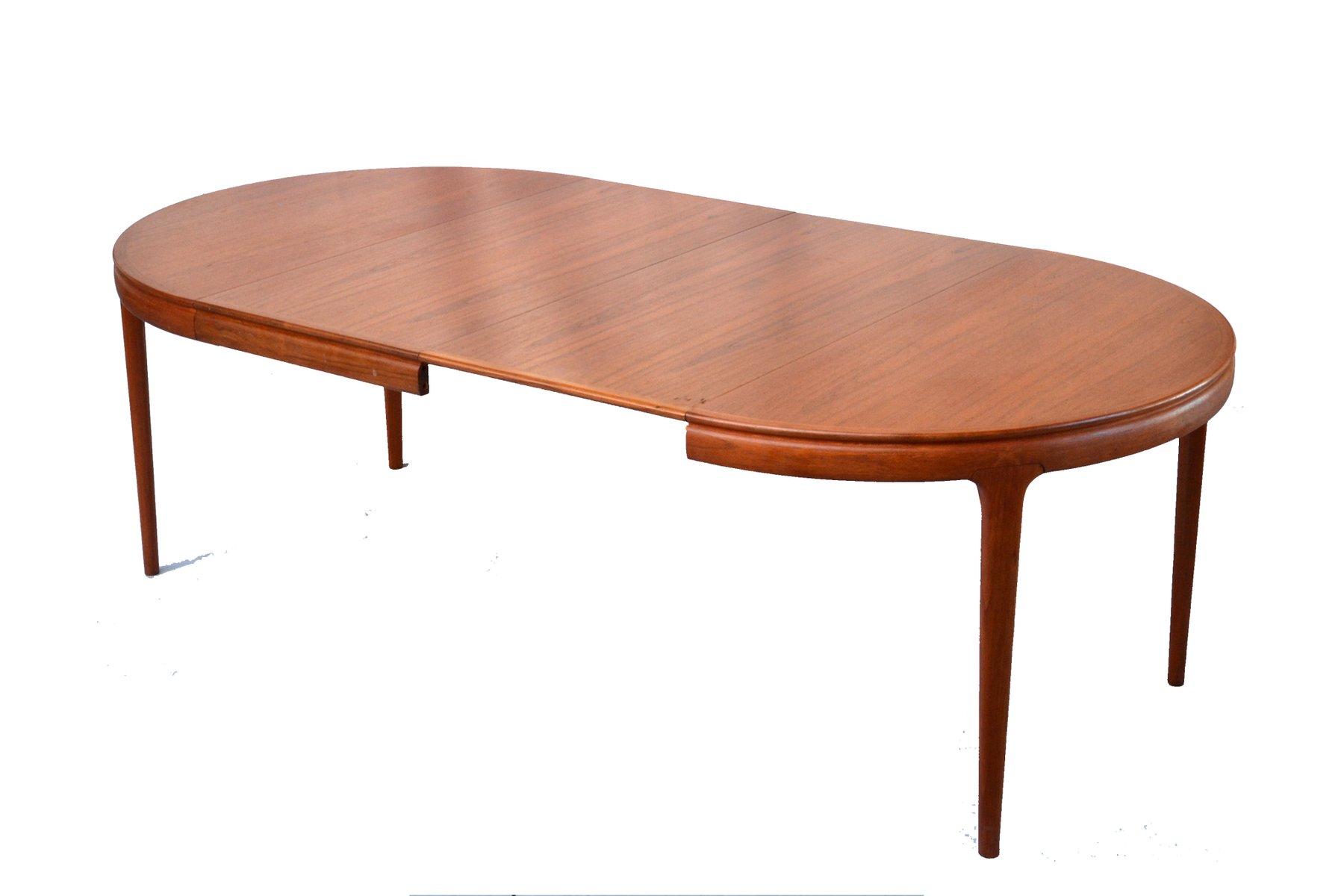 ausziehbarer skandinavischer vintage tisch von arne. Black Bedroom Furniture Sets. Home Design Ideas