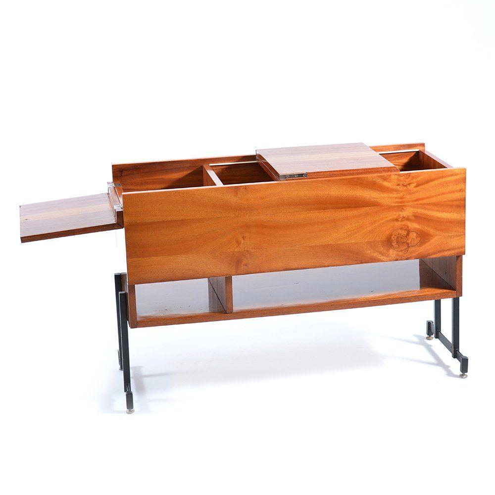 furnier bar tisch 1970er bei pamono kaufen. Black Bedroom Furniture Sets. Home Design Ideas