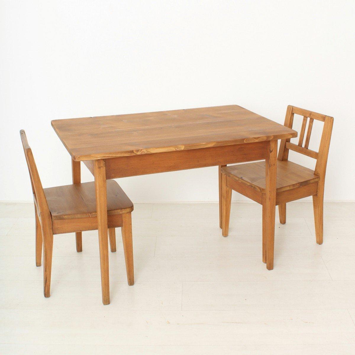 vintage kindertisch st hle 3er set bei pamono kaufen. Black Bedroom Furniture Sets. Home Design Ideas