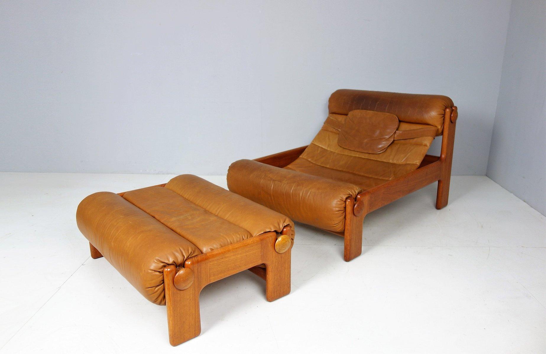 Vintage Swedish Lounge Chair & Ottoman 1960s for sale at Pamono