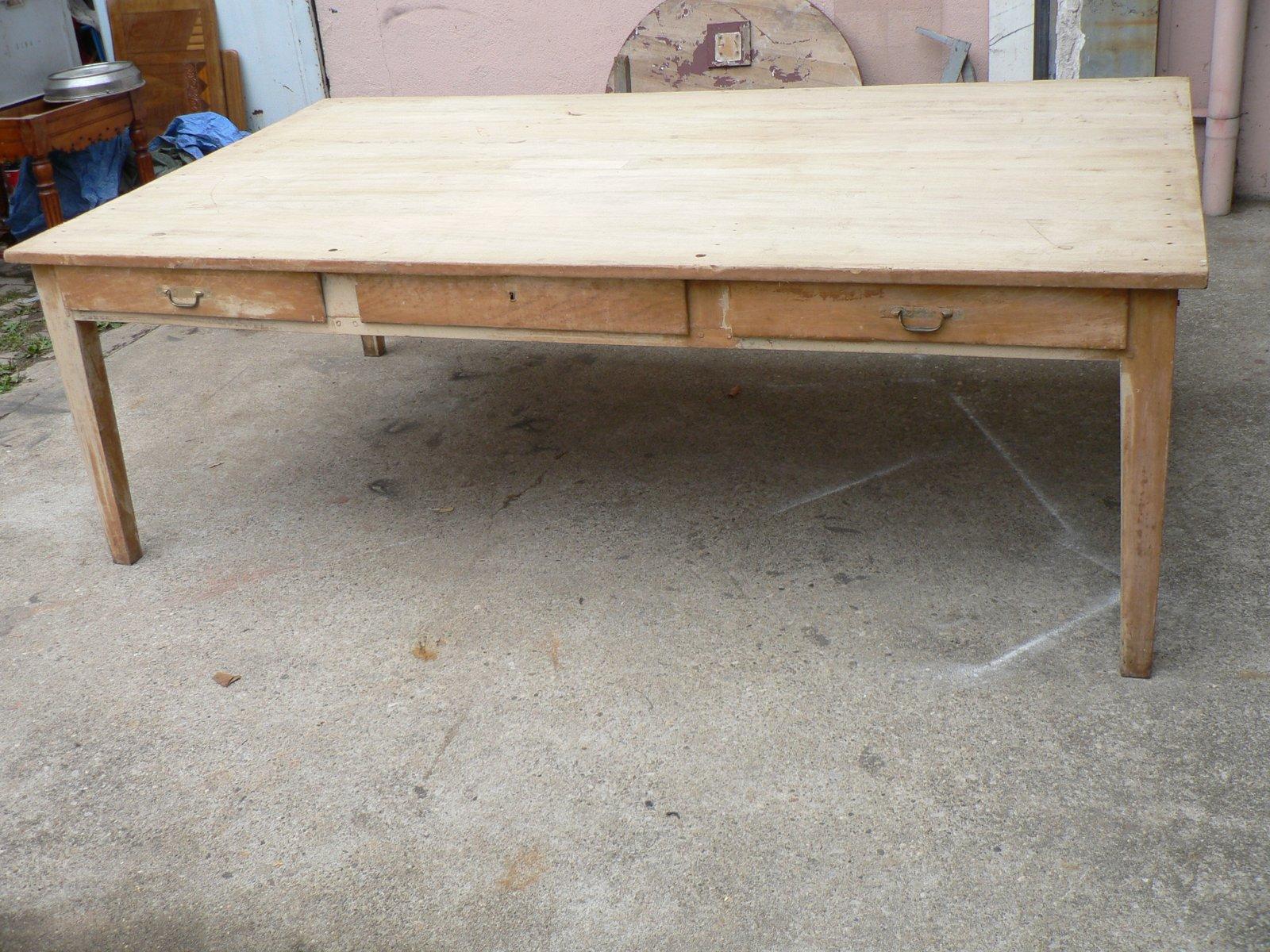 gro er vintage obstholz tisch bei pamono kaufen. Black Bedroom Furniture Sets. Home Design Ideas