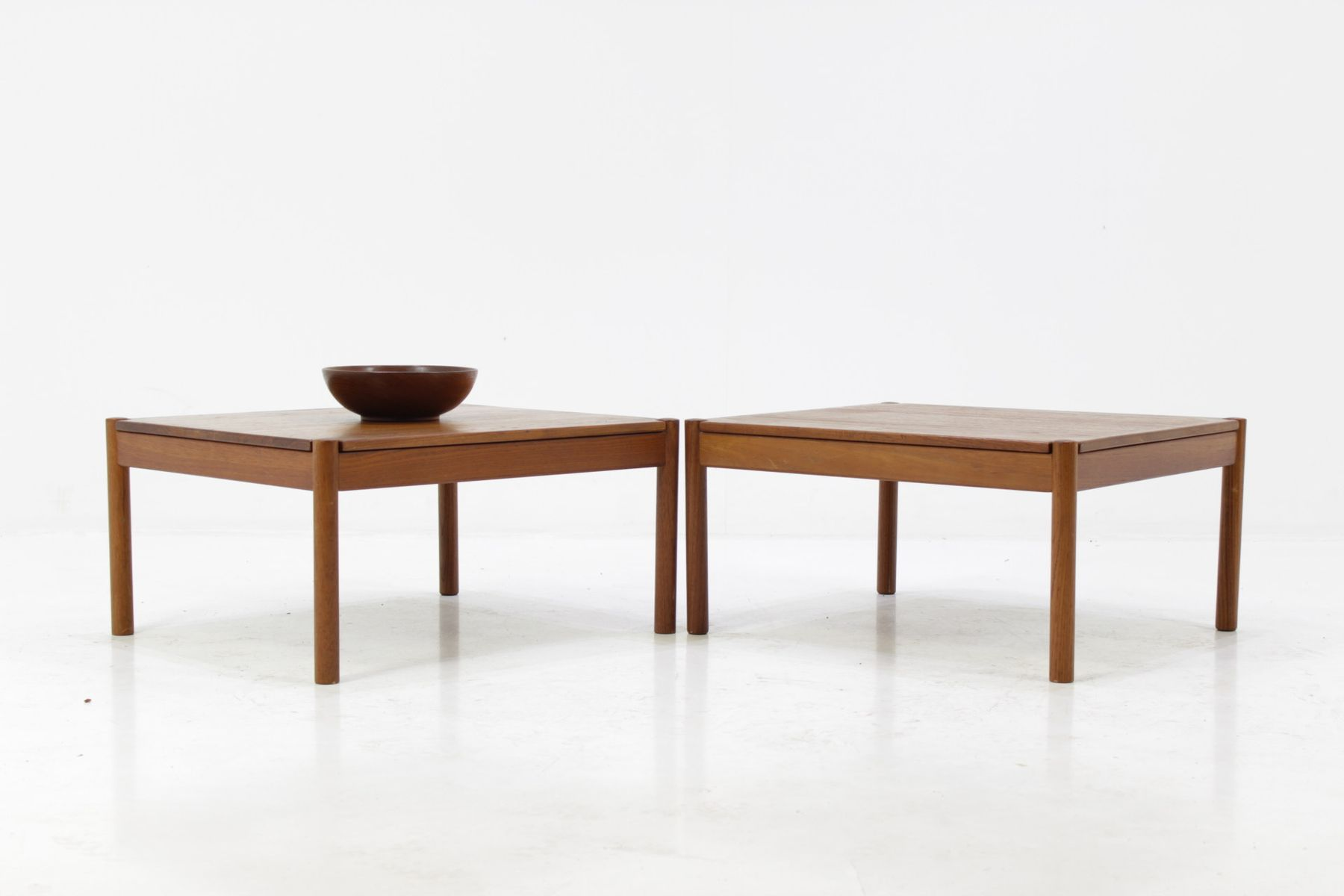 Solid Teak Coffee Tables By Magnus Olesen For Durum, 1960s, Set Of 2