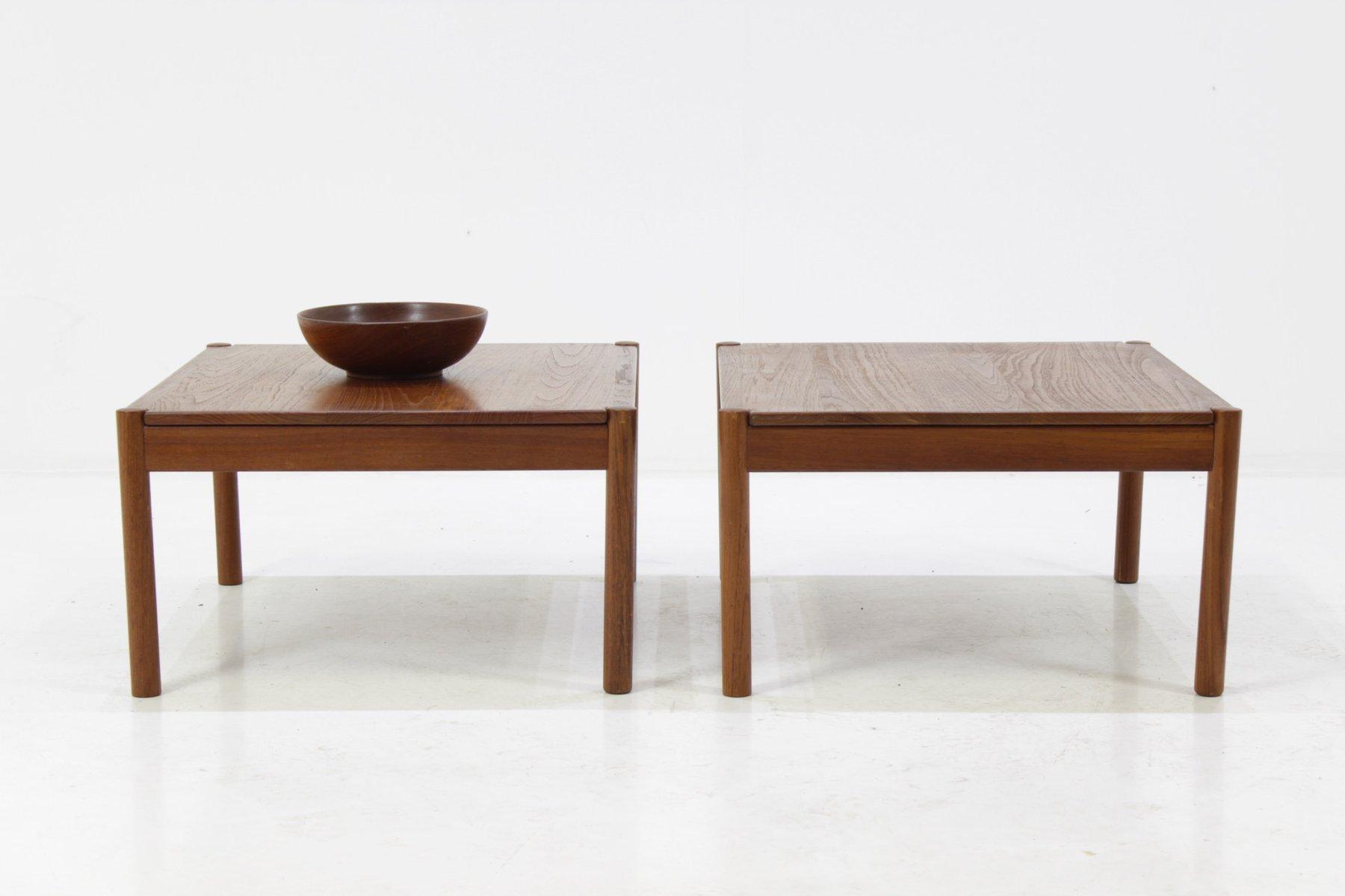 Solid Teak Coffee Tables by Magnus Olesen for Durum 1960s Set of