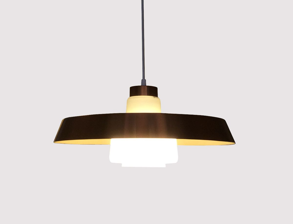 d nische kupfer deckenlampe von lyfa 1960er bei pamono kaufen. Black Bedroom Furniture Sets. Home Design Ideas