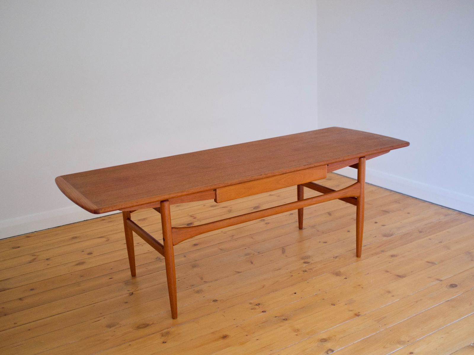 danish coffee table with drawer by andreas hansen for arrebo
