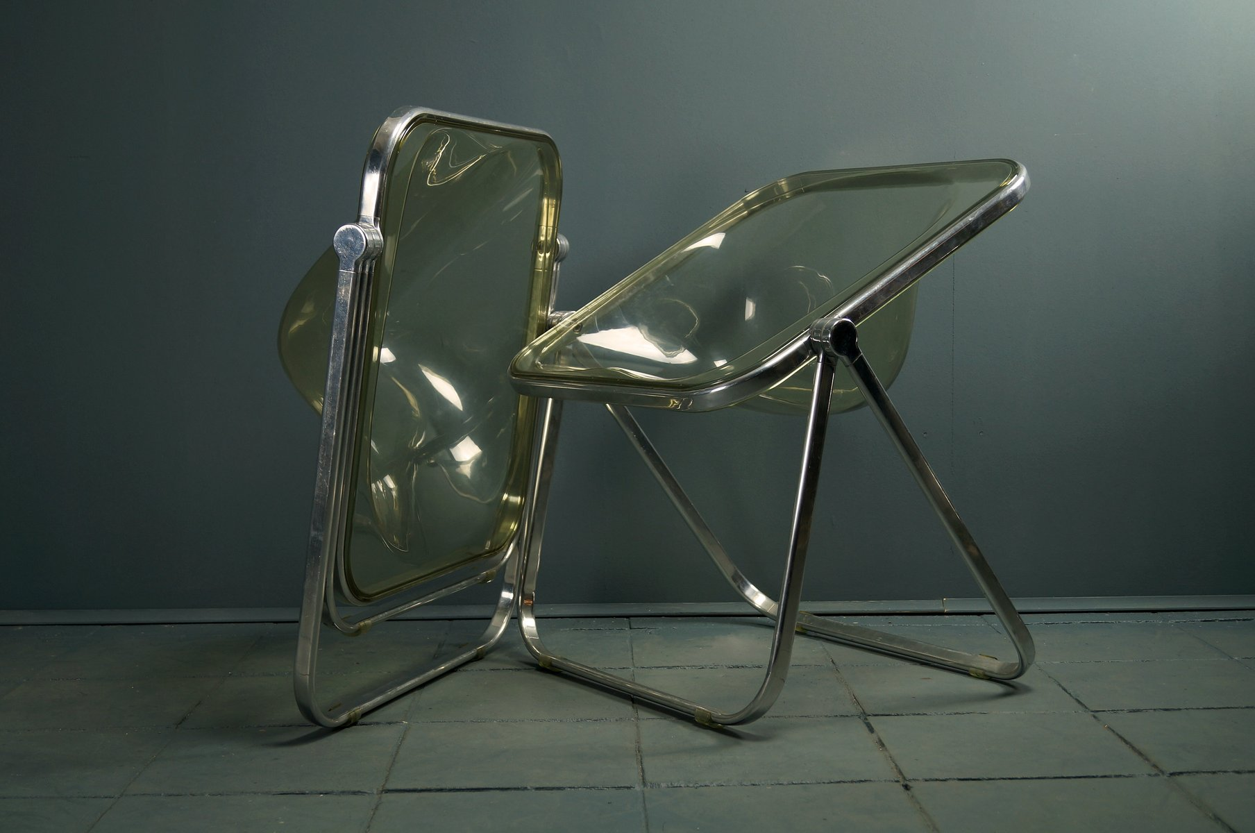 Vintage Plona Folding Chairs by Giancarlo Piretti for Castelli
