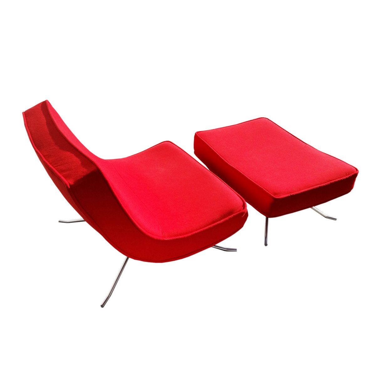 Vintage Chair & Ottoman by Christian Werner for Ligne Roset for ...