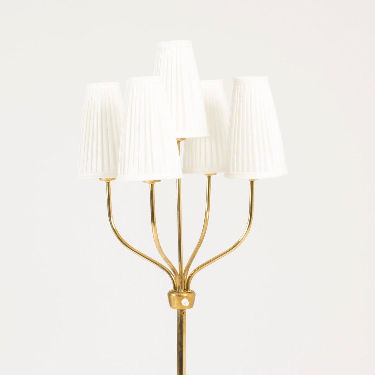 stehlampe mit 5 schirmen von hans bergstr m f r atelji lyktan 1950er bei pamono kaufen. Black Bedroom Furniture Sets. Home Design Ideas