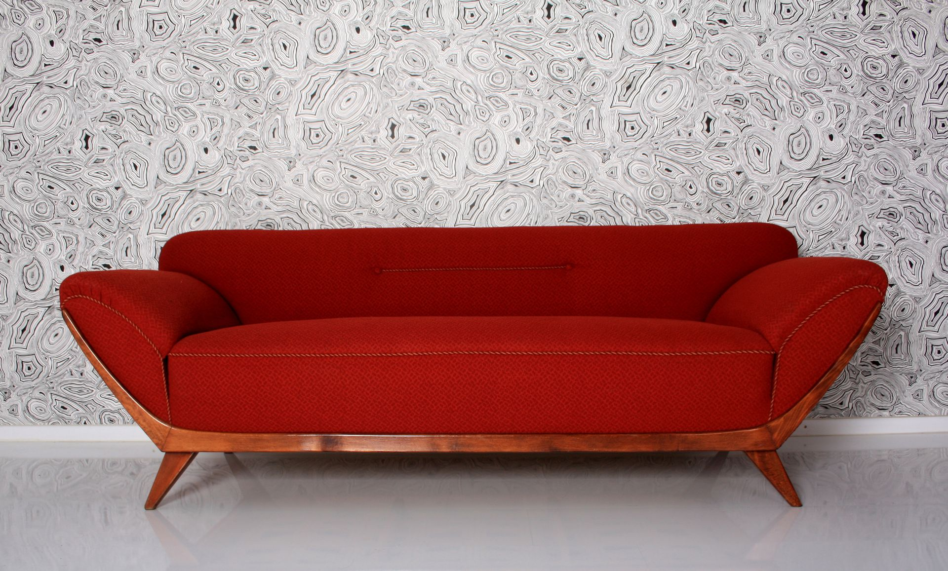 Vintage Italian Walnut Sofa for sale at Pamono