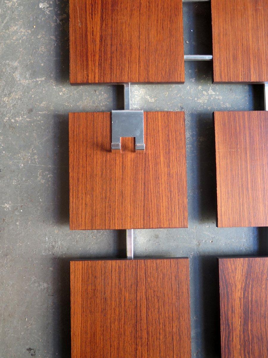 vintage garderobe aus palisander furnier und verchromtem metall bei pamono kaufen. Black Bedroom Furniture Sets. Home Design Ideas