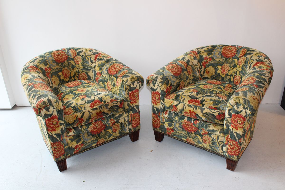 French Art Deco Chairs 1940s Set Of 2 For Sale At Pamono