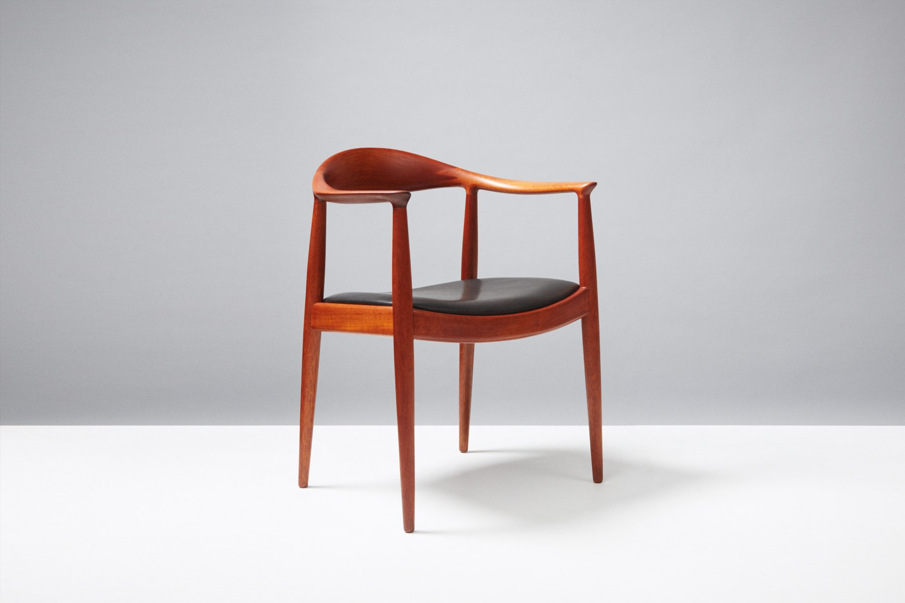 JH 503 Mahogany and Leather Desk Chair by Hans Wegner for Johannes