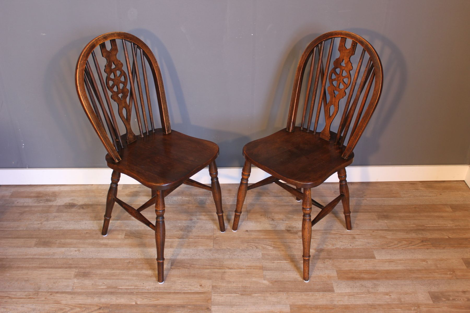 19th Century Wooden Windsor Chairs Set of 2 for sale at Pamono