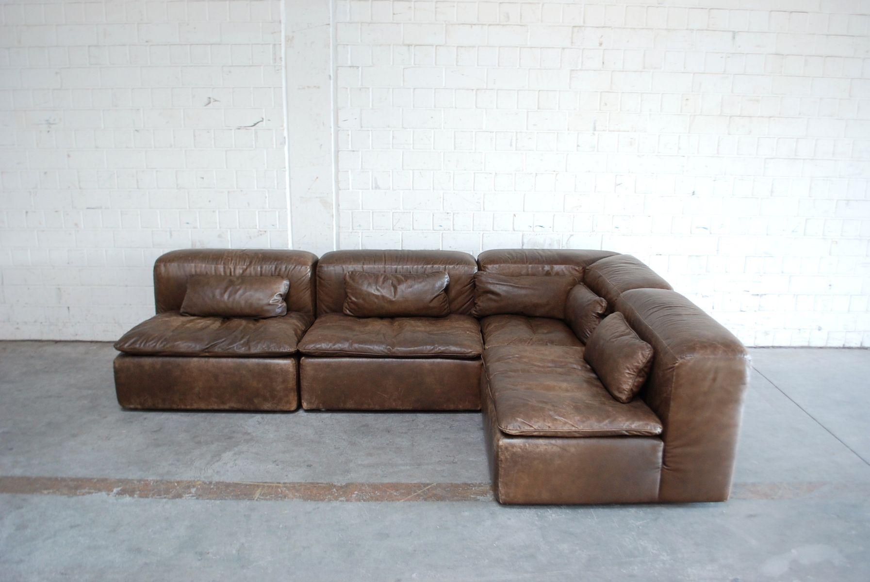 Vintage Modular WK 550 Leather Sofa Set by Ernst Martin Dettinger