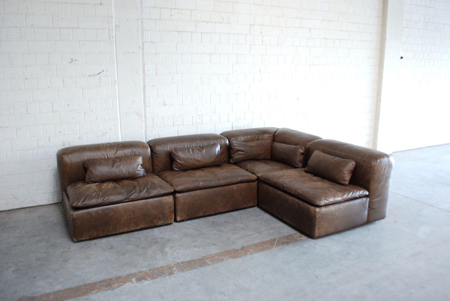 cheap vintage modular wk leather sofa set by ernst martin dettinger for wk mbel set of with sofa mbel - Sofa Mbel