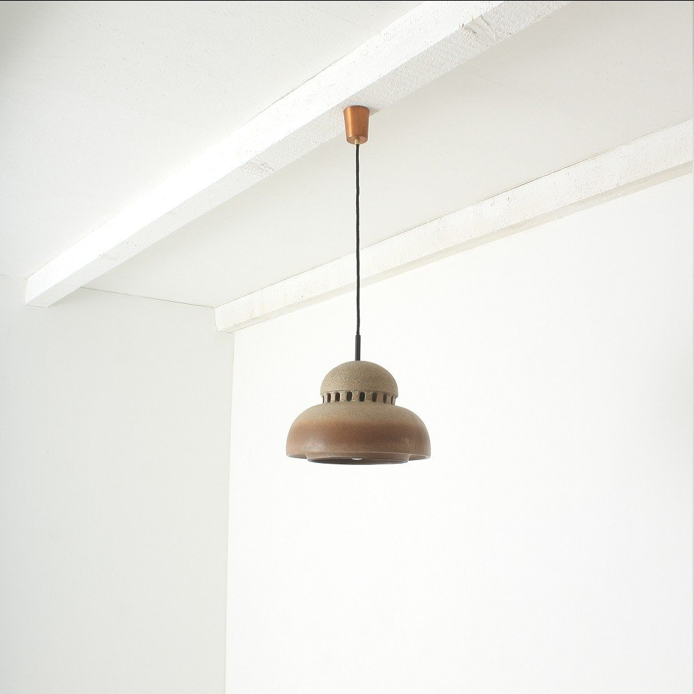 Vintage brown ceramic ceiling lamp for sale at pamono vintage brown ceramic ceiling lamp aloadofball Image collections