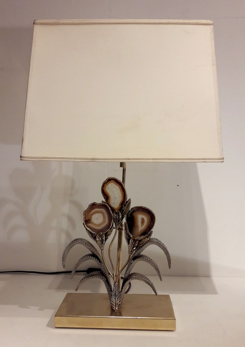 Vintage Agate Table Lamp By Willy Daro For Sale At Pamono