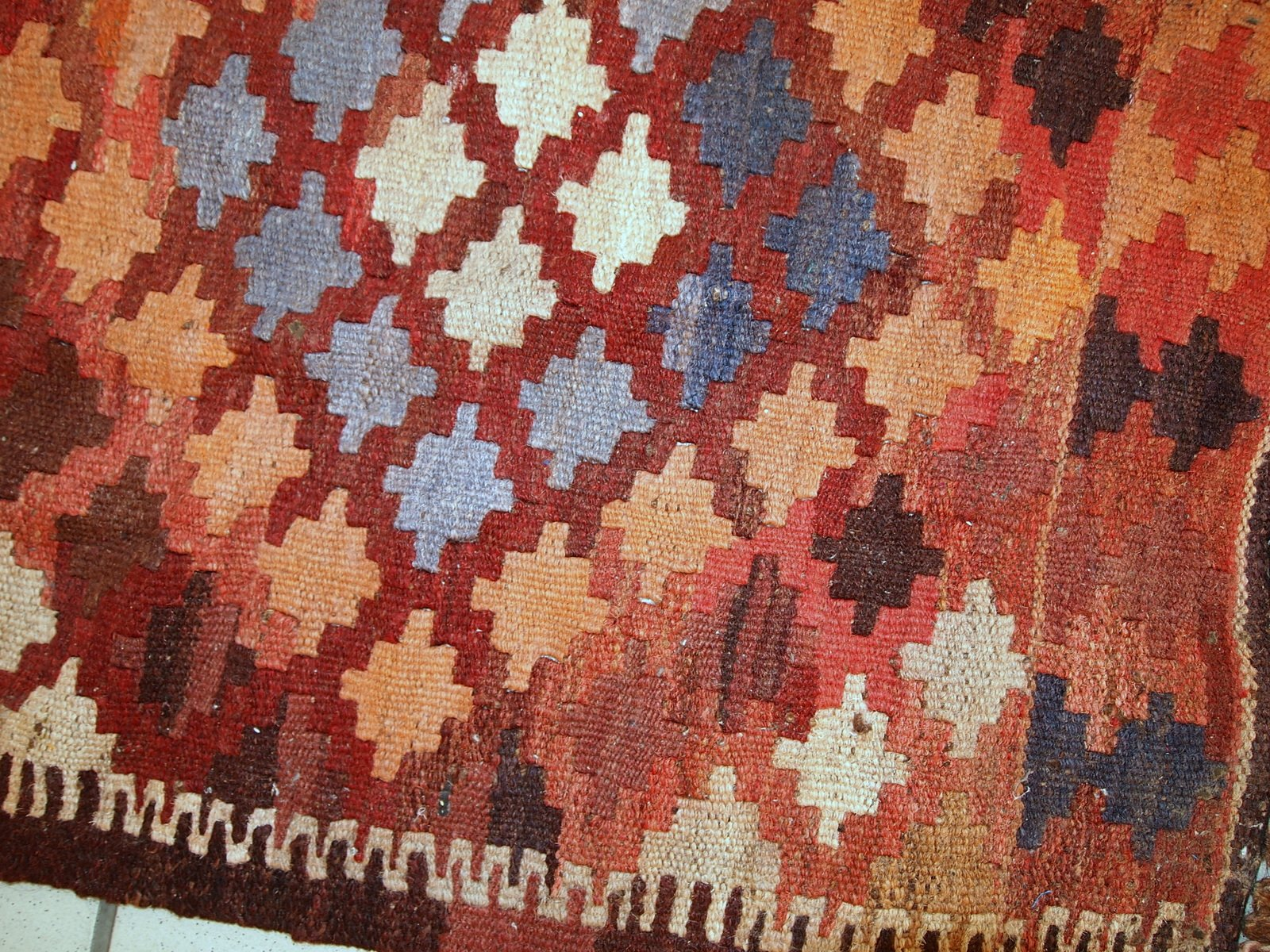 vintage handmade afghan kilim rug 1960s for sale at pamono. Black Bedroom Furniture Sets. Home Design Ideas