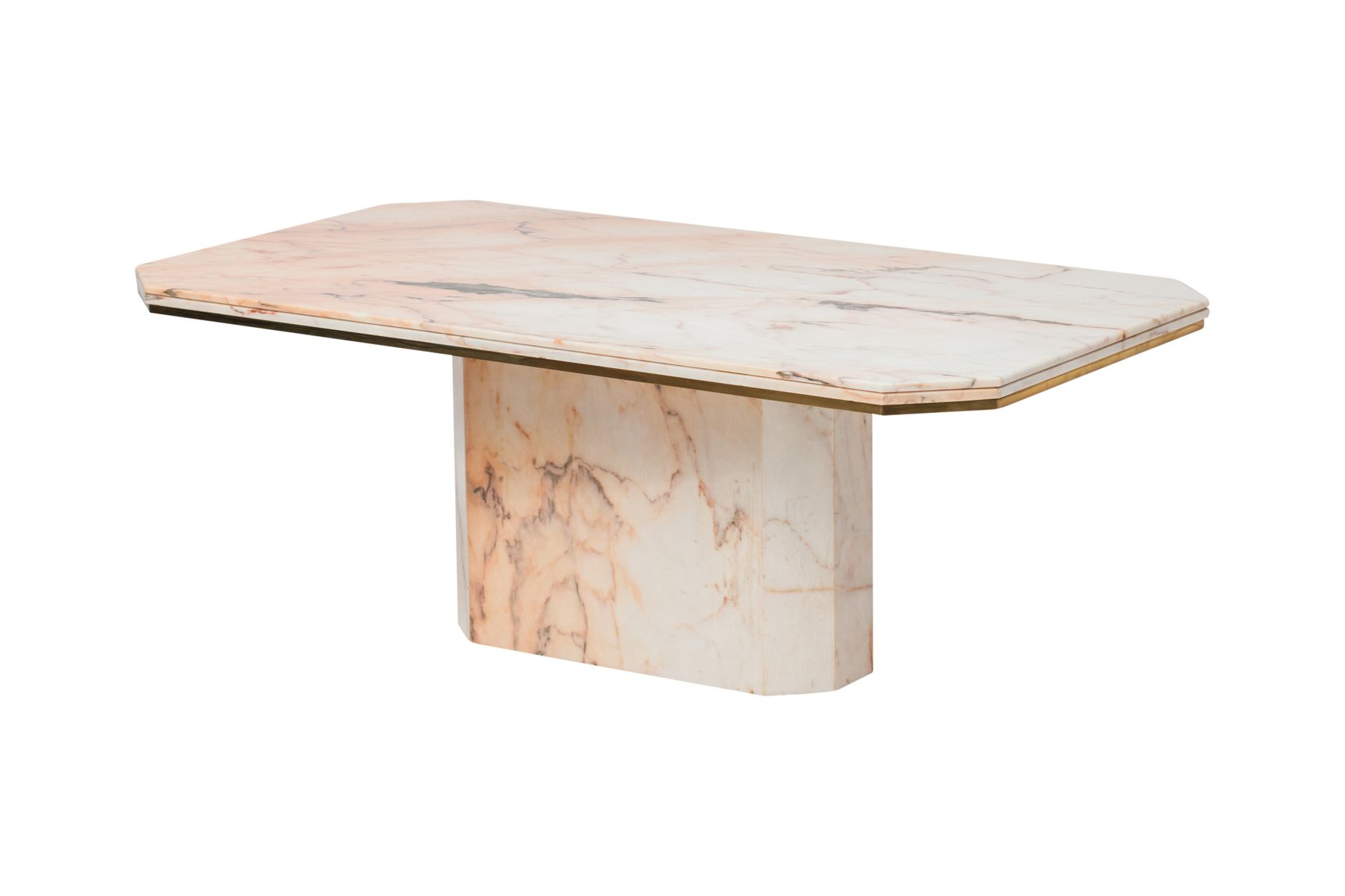 vintage marmor messing esstisch von maison jansen bei. Black Bedroom Furniture Sets. Home Design Ideas
