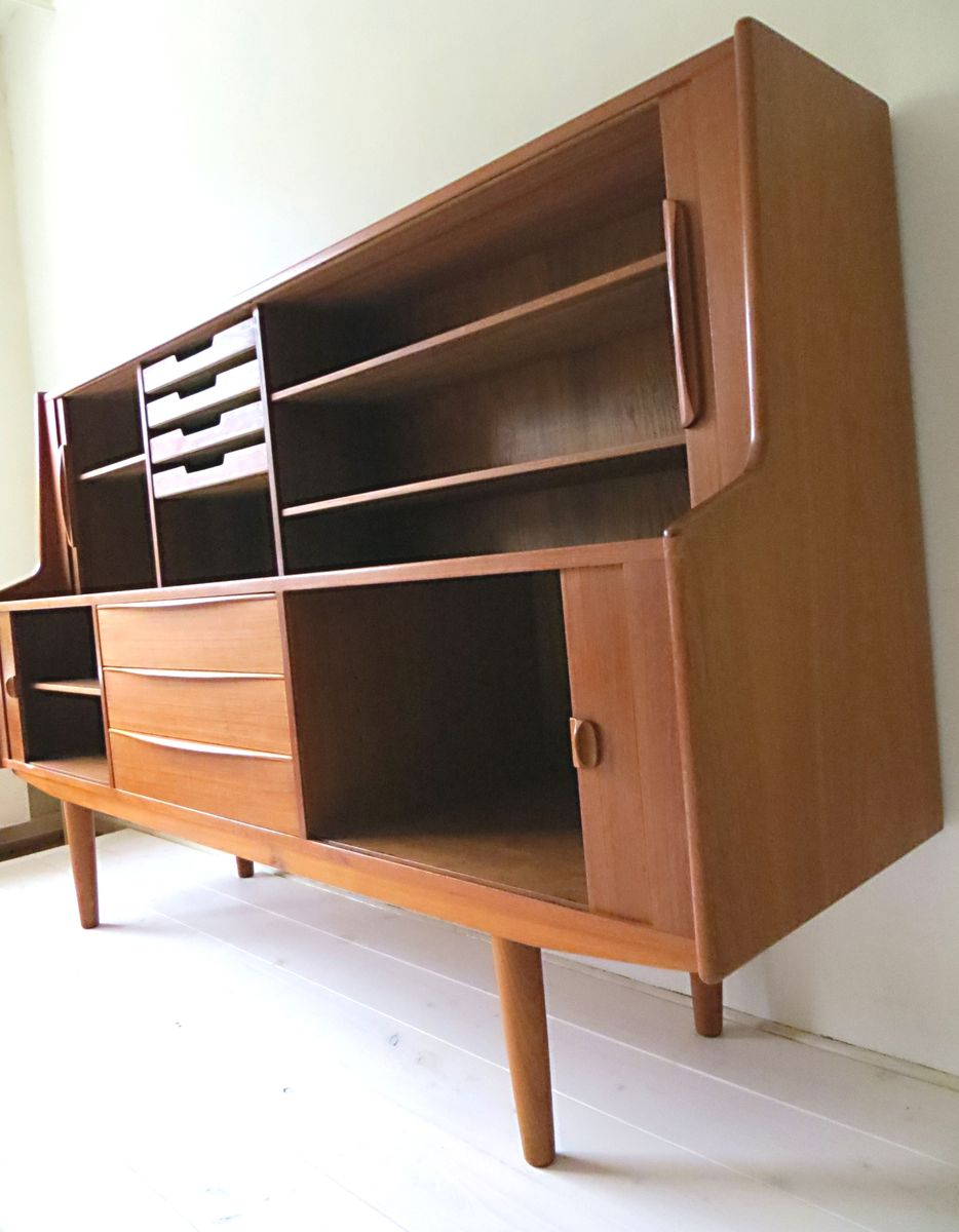 vintage danish teak highboard by ib kofod larsen for. Black Bedroom Furniture Sets. Home Design Ideas