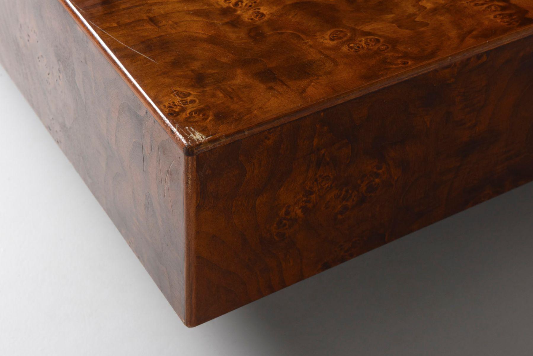 niedriger vintage tisch aus wurzelholz bei pamono kaufen. Black Bedroom Furniture Sets. Home Design Ideas