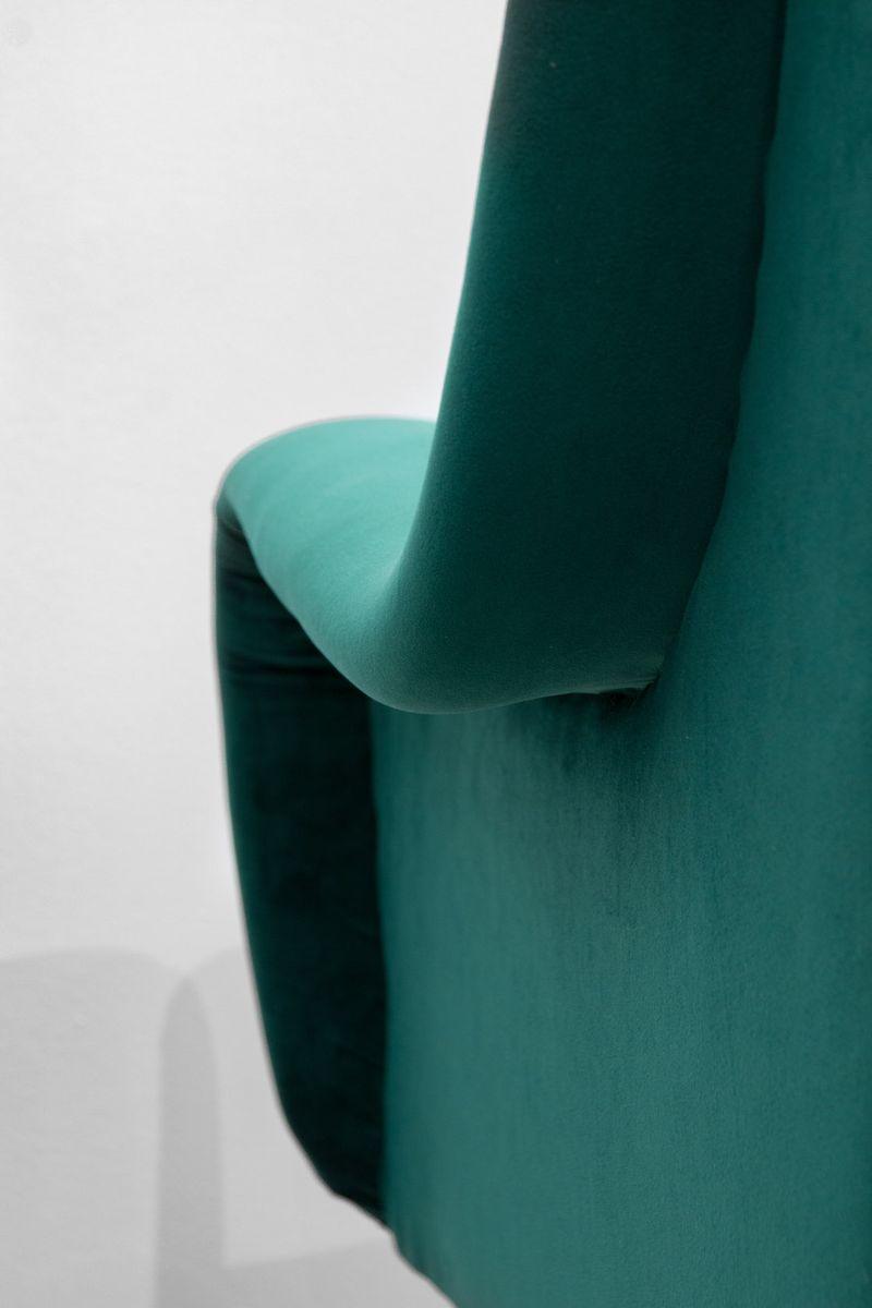 italienische gr ne mid century sessel 2er set bei pamono. Black Bedroom Furniture Sets. Home Design Ideas