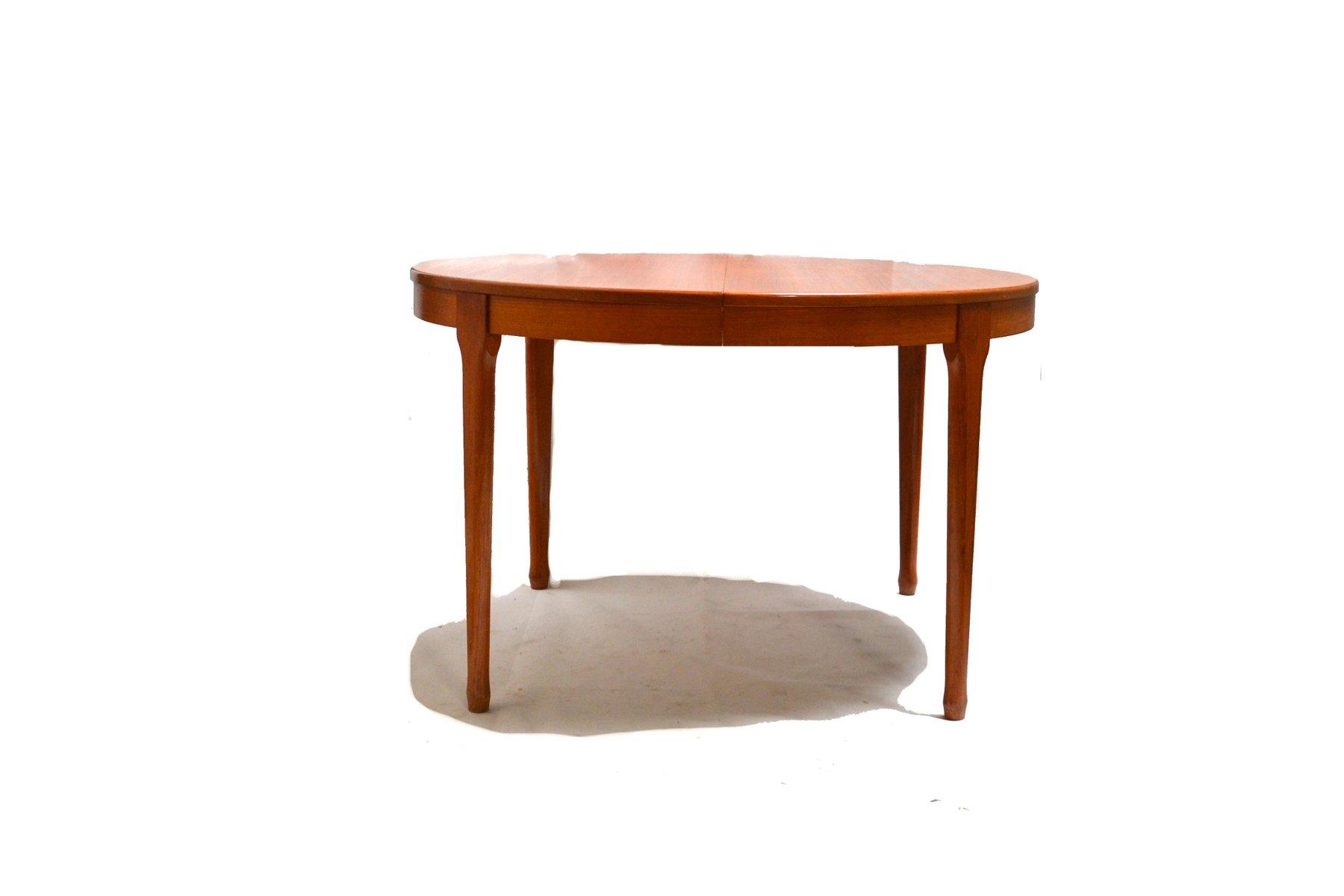 ausziehbarer runder vintage esstisch von meubles tv bei pamono kaufen. Black Bedroom Furniture Sets. Home Design Ideas