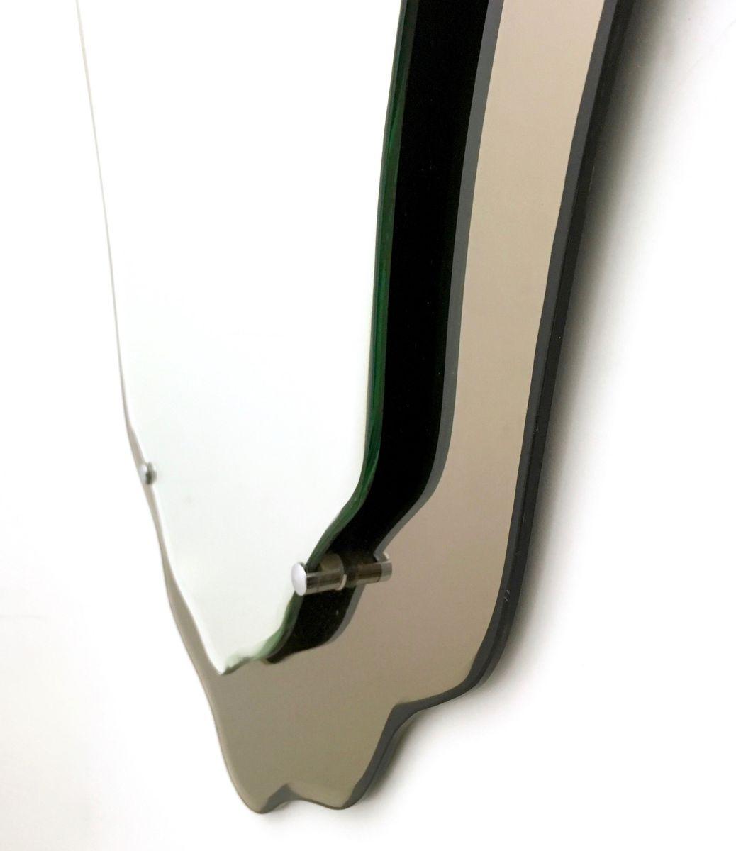 wandspiegel mit bronziertem rahmen 1950er bei pamono kaufen. Black Bedroom Furniture Sets. Home Design Ideas