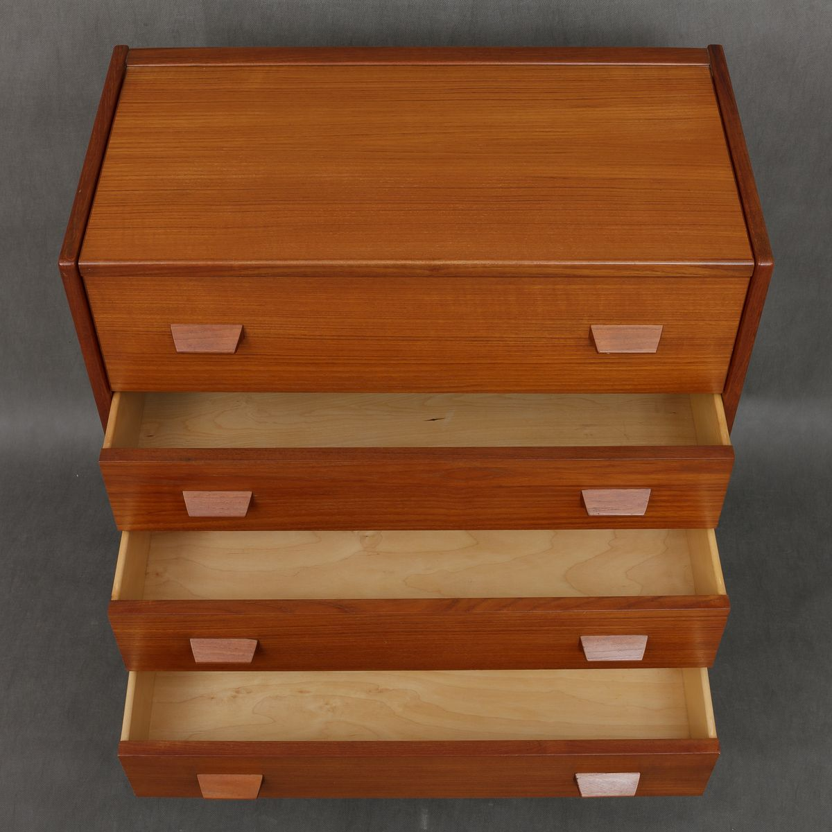 mid century teak kommode mit spiegel 1960er bei pamono kaufen. Black Bedroom Furniture Sets. Home Design Ideas