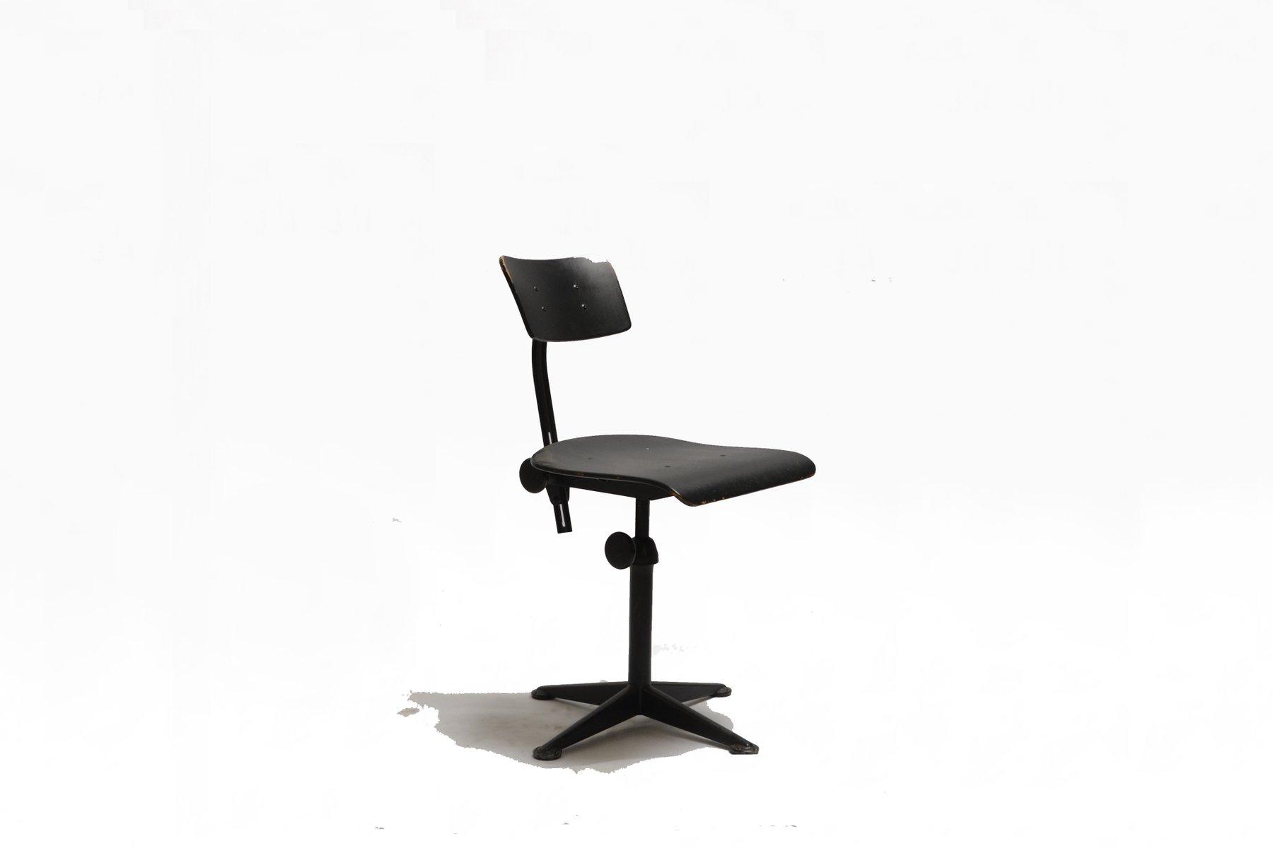 midcentury black swivel chair by friso kramer for ahrend de cirkel 1960s