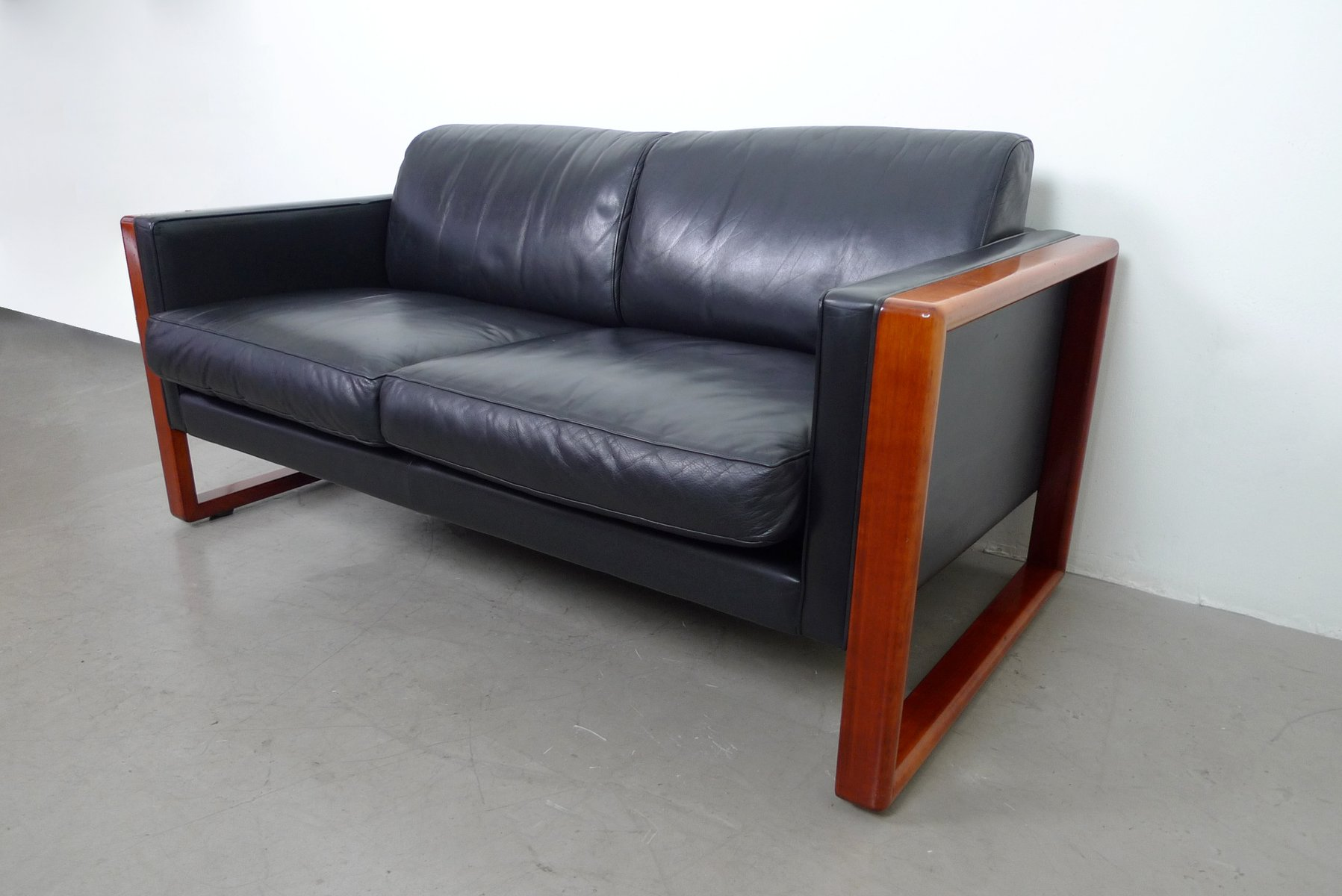 2Seater Leather Sofa from Walter Knoll 1960s for sale at Pamono