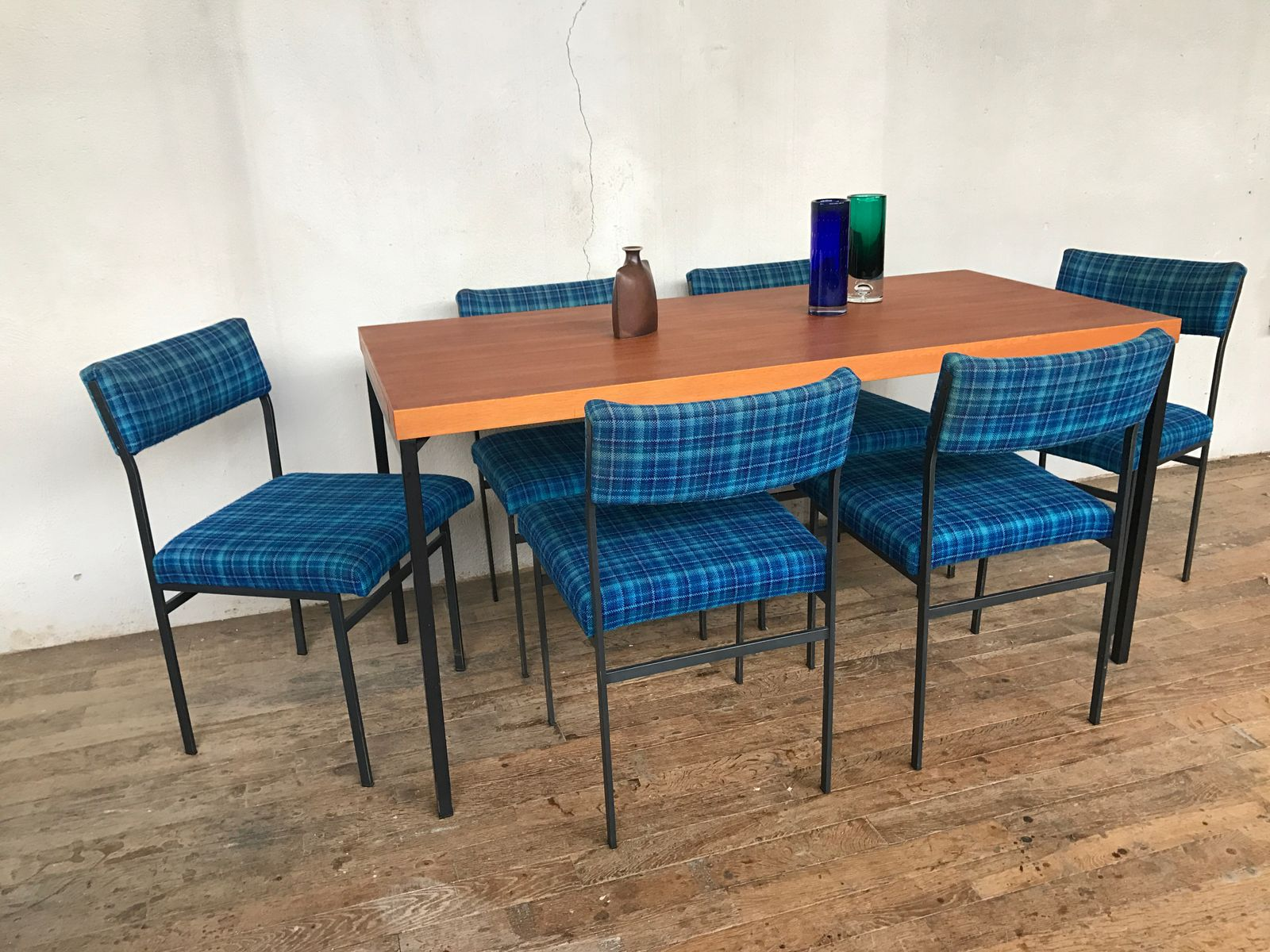 Marvelous Teak Dining Table By Dieter Wäckerlin For Behr With 6 Chairs, 1950s