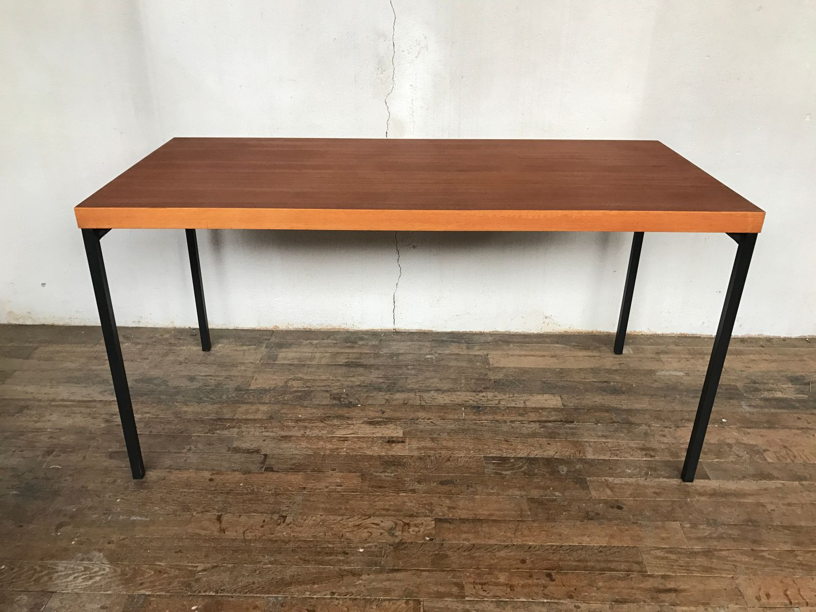 Teak Dining Table by Dieter Wäckerlin for Behr with 6 Chairs