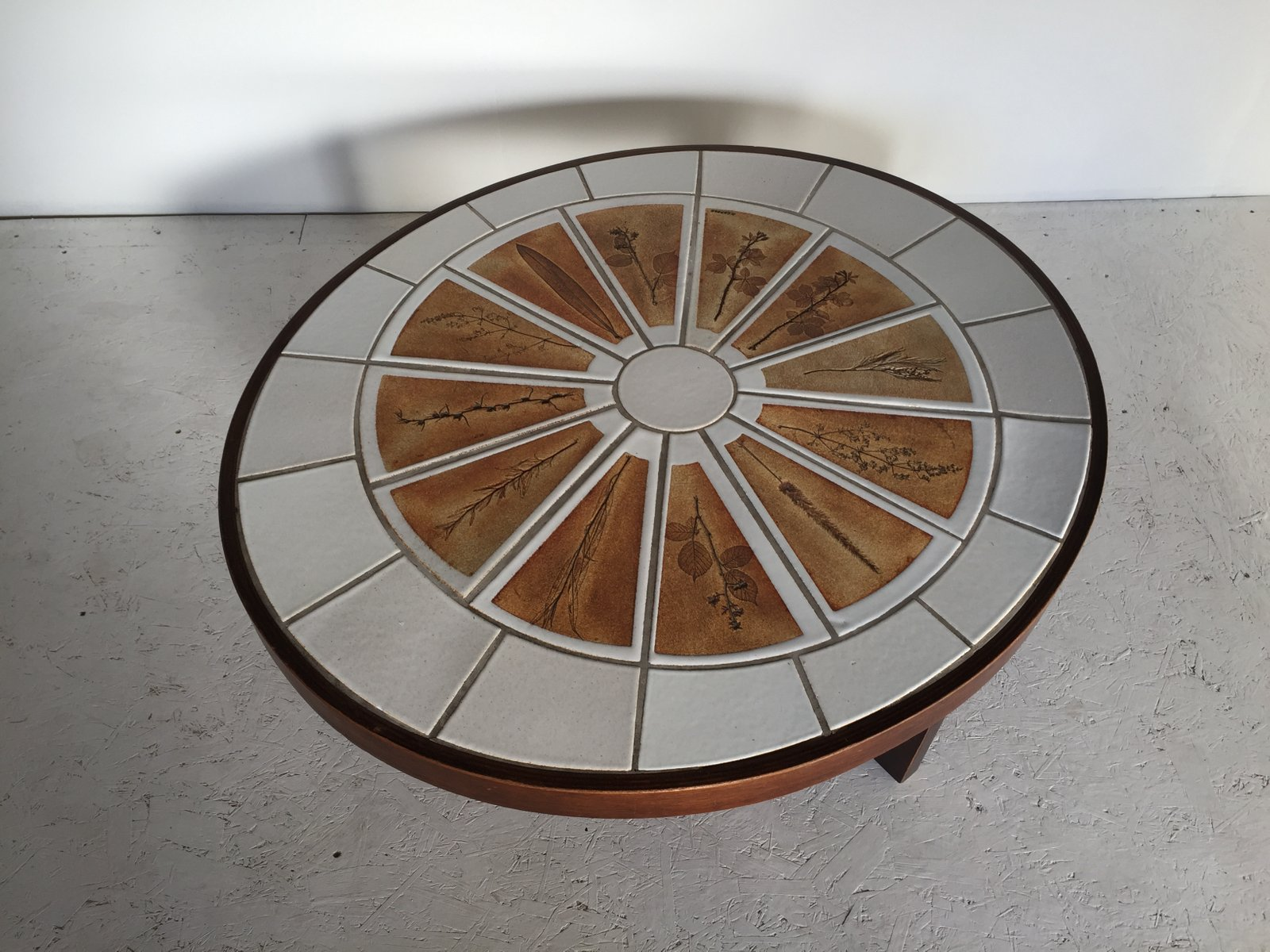 Ceramic herbarium coffee table by roger capron 1960s for sale at pamono - Model herbarium ...