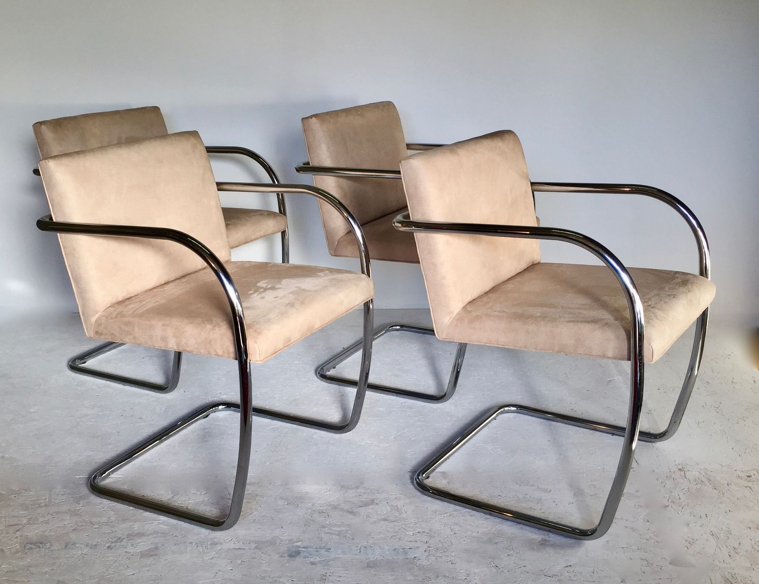 Chrome chairs 1980s set of 4 for sale at pamono for 1980s chair